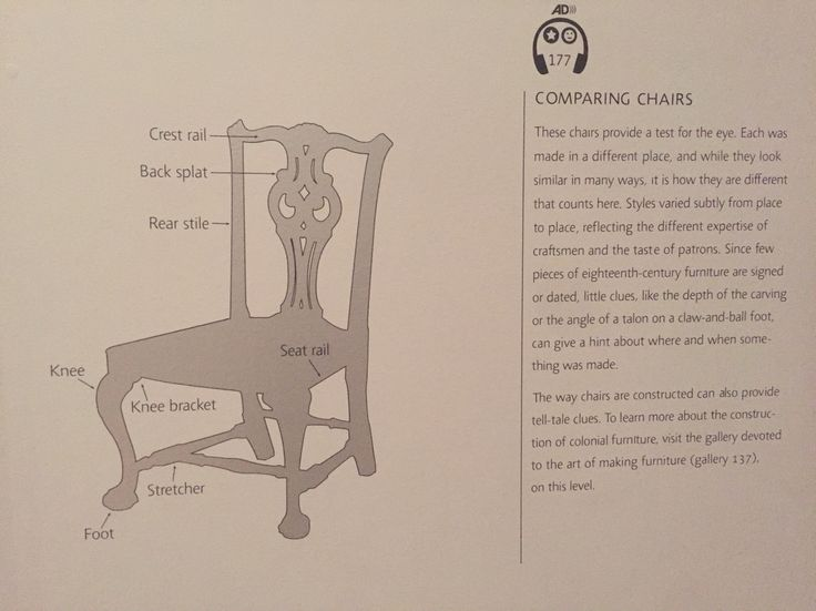 identifying antique chairs | Museum of Fine Arts, Boston
