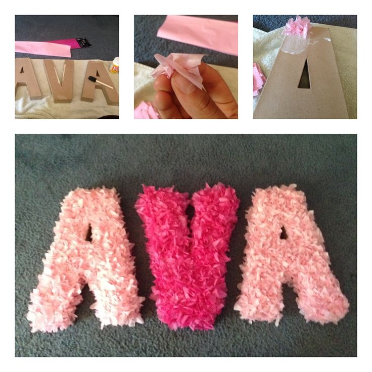 Baby shower decorations #1 done! Easy and cheap Modge Podge & tissue paper craft :)