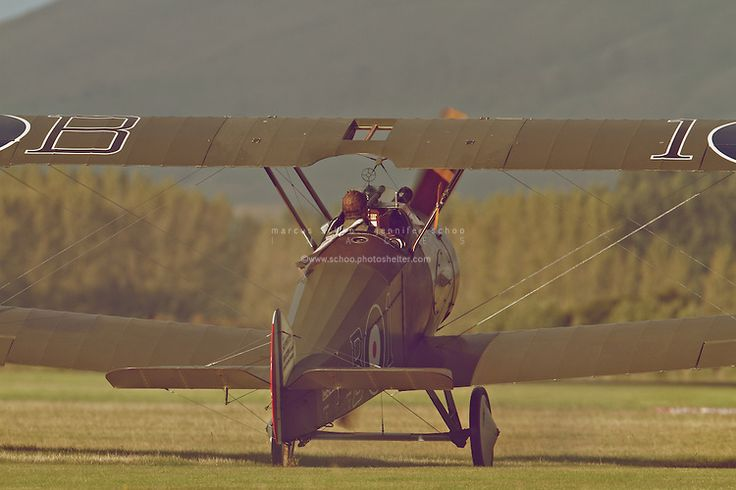 A Sopwith Camel prepares to take-off from Hood Aerodrome, New Zealand. ©2012 Marcus Schoo
