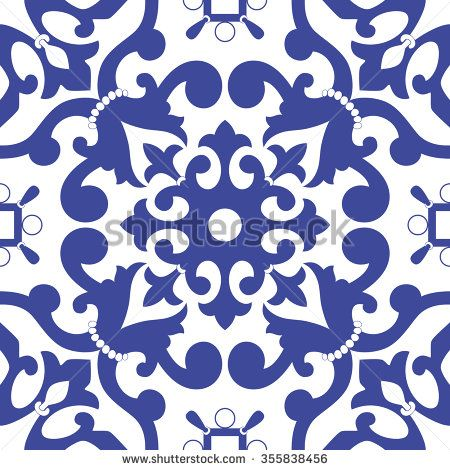 Традиционный арабский орнамент бесшовные для вашего дизайна.  Вектор.  Задний план.  Цветочный орнамент узор.  - Векторная иллюстрация