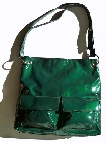 Gapock X Crossbody Travel Bag Patent Leather by IMPERIO jp