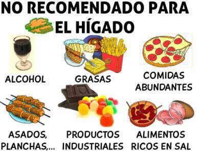 alimentos toxicos no recomendados para enfermedades el higado