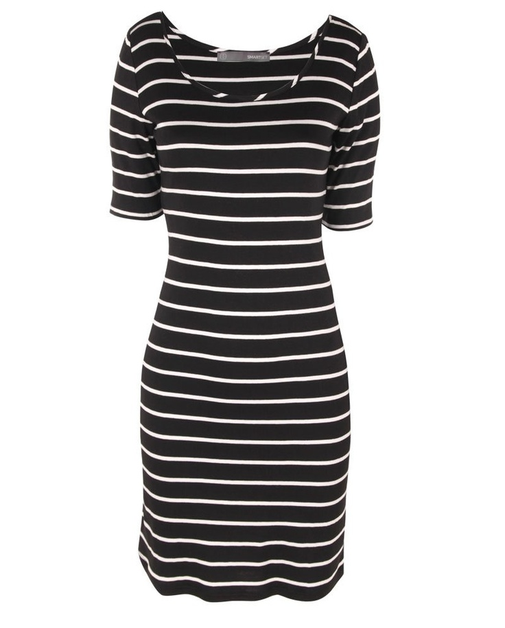SMART SET - Collection - BODYCON STRIPED DRESS