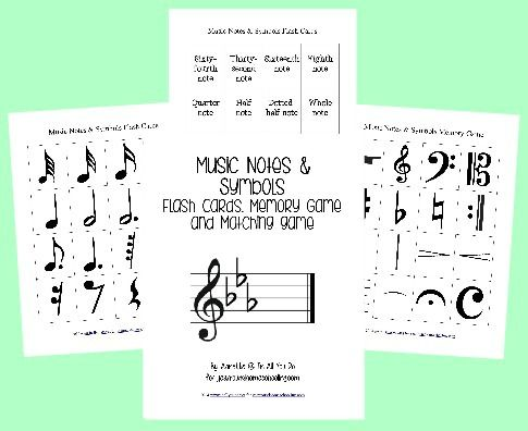 {free} Music Notes & Symbols Printables -