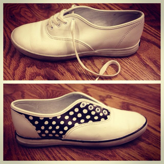 Keds turned polka-dotted saddle shoes. All you need are 2 sharpies, the