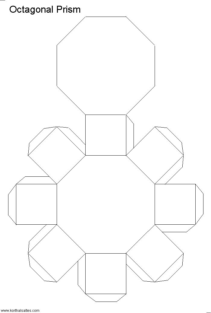 Net octagonal prism Design Freebies