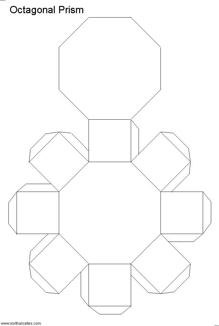 Net octagonal prism