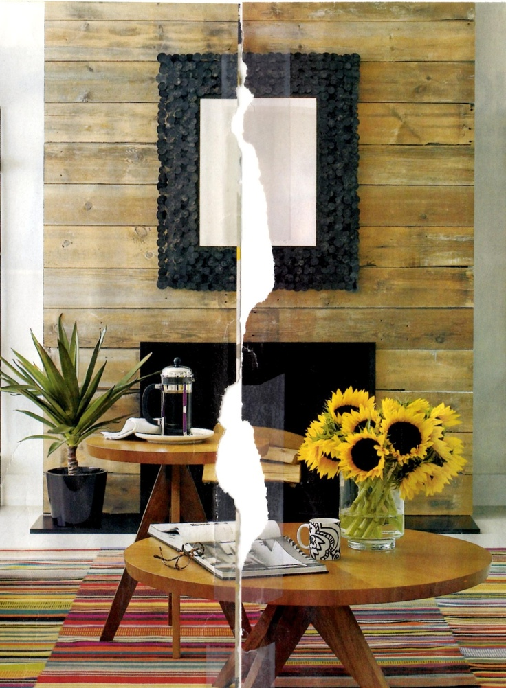 wood plank fireplace surround   Home decor   Pinterest ...