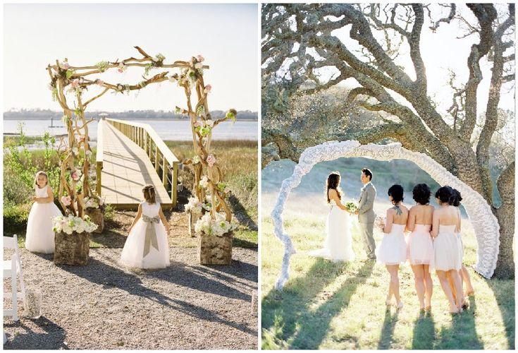 Nature inspired wedding arches. Photos : Virgil Bunao Fine Art Weddings and Jose Villa