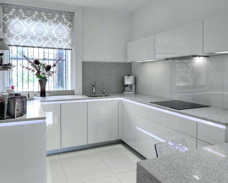 Ex Display Kitchen High Gloss Magnolia And Wild Oak Kitchen Ex