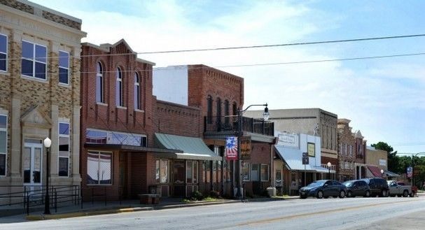 Several of the buildings in downtown Nocona have been restored and the shopping is fantastic for a Valentine's weekend getaway.