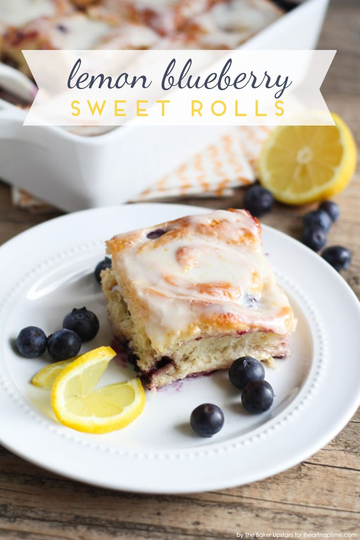 Lemon Blueberry Sweet Rolls | breakfast recipes