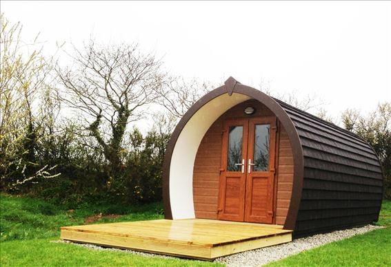 Our new UK Hideaway Pod at Meadow Lakes, available to rent from £38 a night sleeps 4
