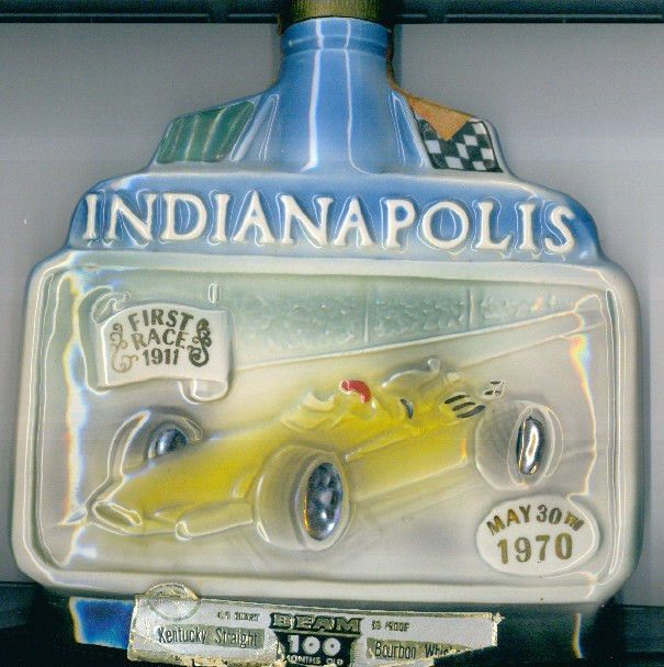 Jim Beam  Month Old Whiskey Vintage Car Decanters