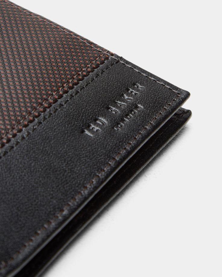 Bi-fold leather wallet - Black   Wallets   Ted Baker