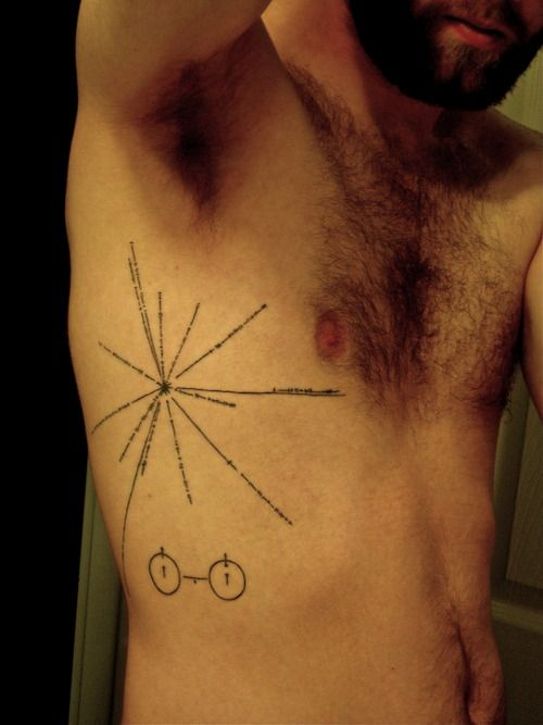 voyager 1 plaque tattoo - photo #13