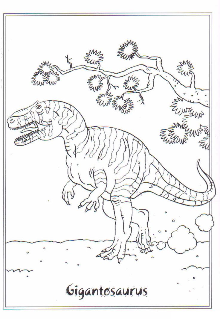 coloring page dinosaurs 2 gigantosaurus coloring pinterest coloring dinosaurs and the o. Black Bedroom Furniture Sets. Home Design Ideas