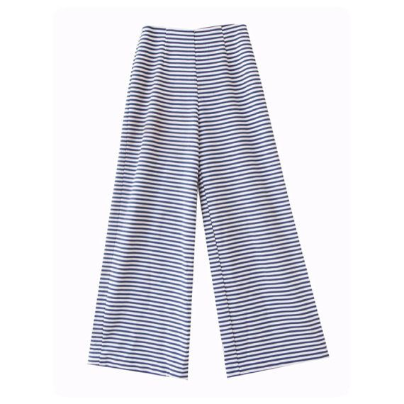 High waisted wide leg Striped pant // Vintage pant // by LPSNUG