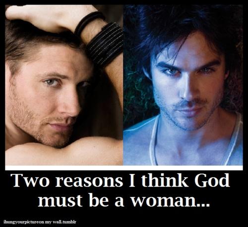 Ian Somerhalder  Jensen Ackles.  I fully agree!
