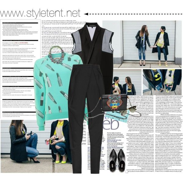 www.styletent.net  by cristina-e on Polyvore featuring Worn By, Ter Et Bantine, Balmain, Miu Miu, Ray-Ban, Arche, Kenzo and SHOUROUK