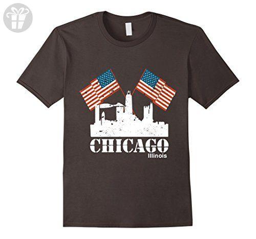 Mens Chicago Shirt Funny Chicago Illinois City Skyline T Shirt 3XL Asphalt - Funny shirts (*Amazon Partner-Link)