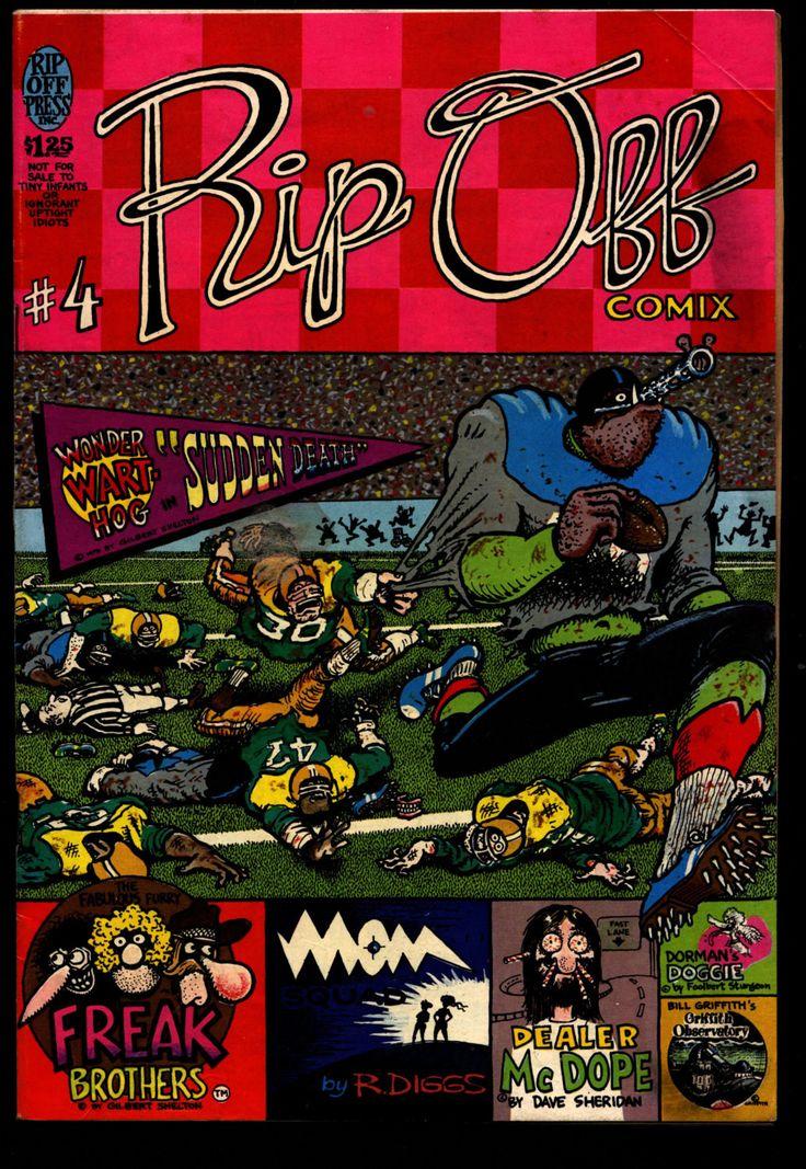 RIP OFF COMIX #4 Freak Brothers Wonder Warthog Fat Freddy's Cat Shelton Sheridan Mavrides Griffith Beck Dope Drug Humor Hippie Underground*