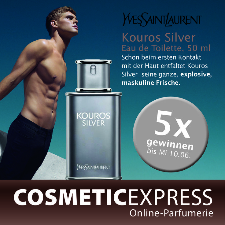 #Gewinnspiel #Facebook #yvessaintlaurent #Kouros #Silver #CosmetiExpress