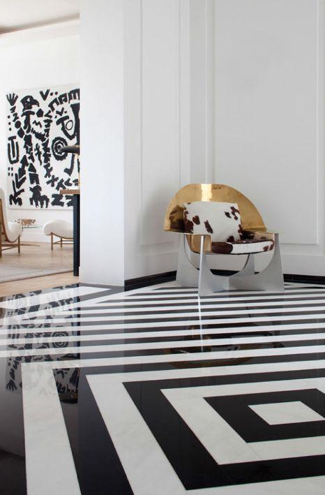 #Decorar suelos con rayas - Cuadrado #suelo_rayas #stripe_floors