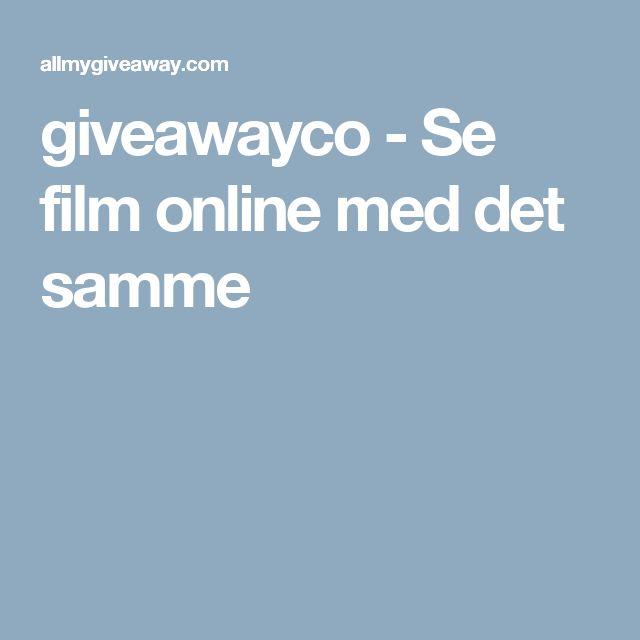 giveawayco - Se film online med det samme