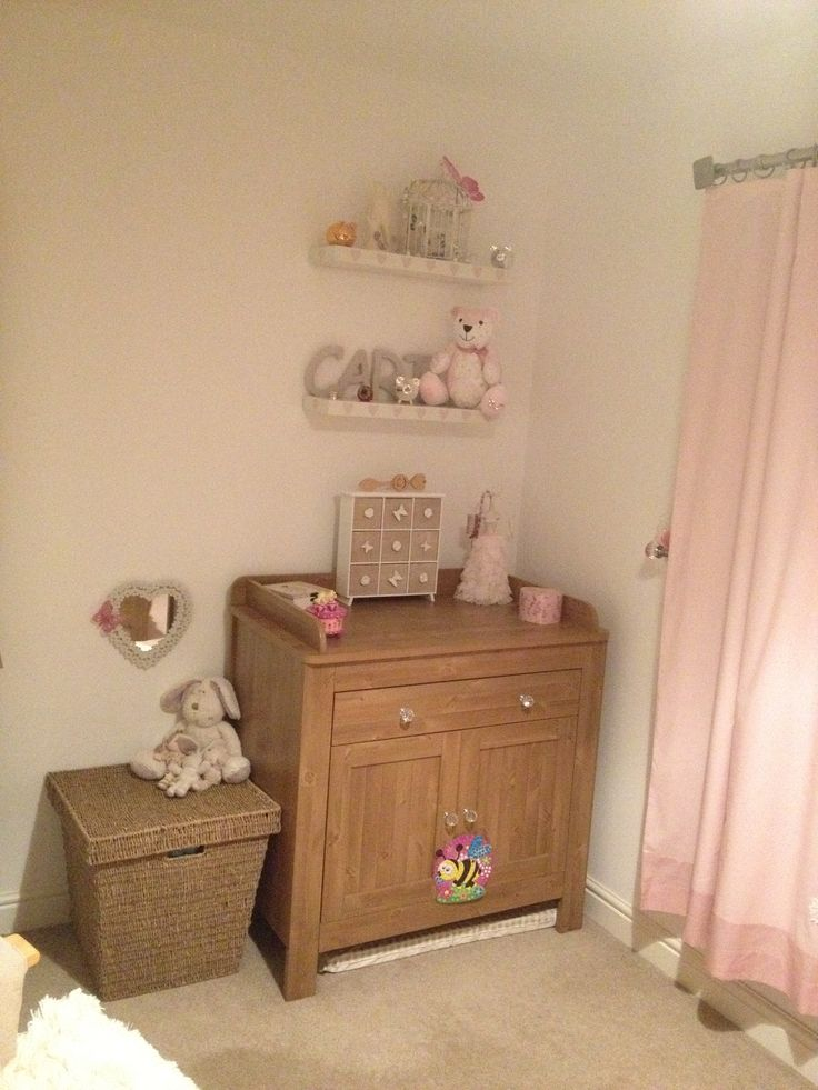 Little girls pretty shabby chic bedroom. By me x