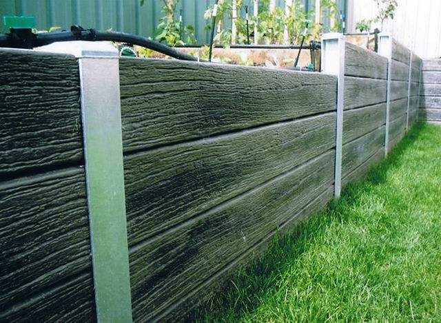 Steel and lumber retaining wall modern design reused