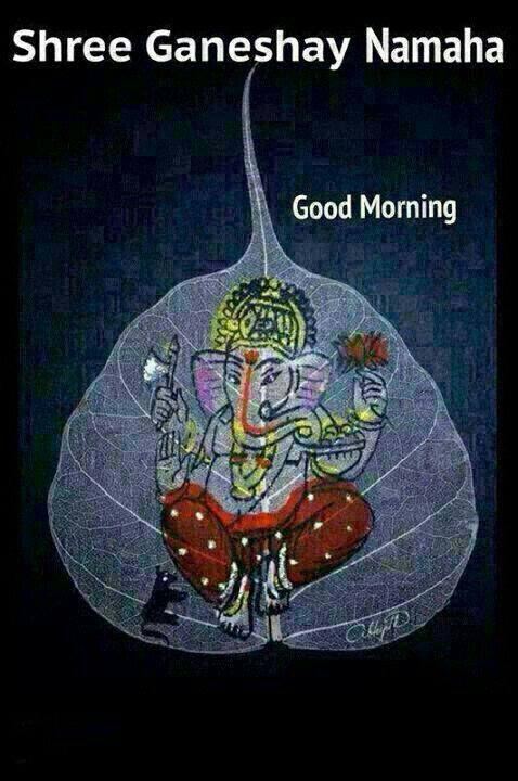 Sri Ganesha painting on pepal leaf