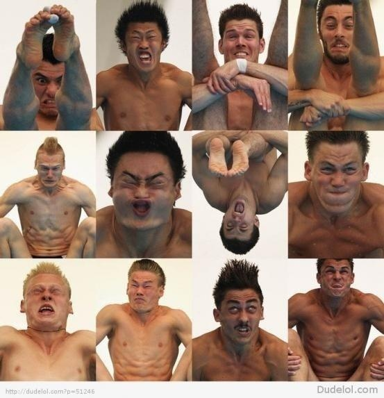 Diving... the downside... faces only a mother could love...