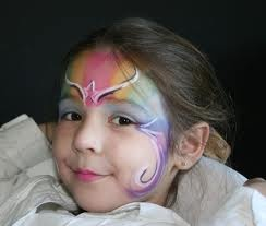 maquillaje facial niñas - Hada Arco IrisArco Iris