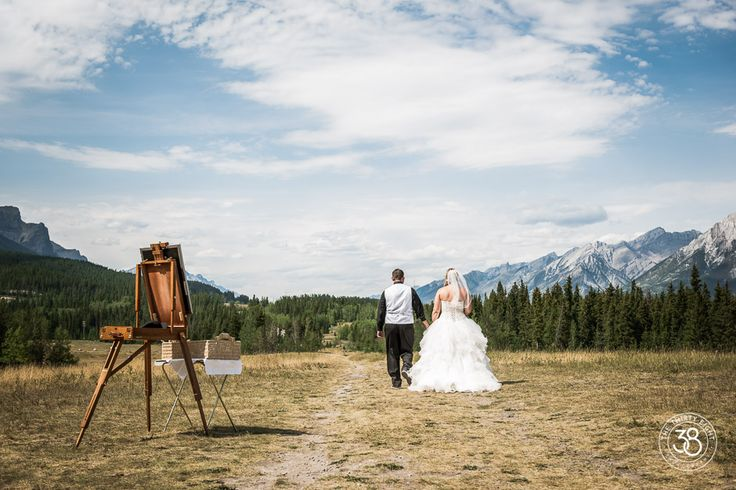 The 38 Photography, Calgary engagement and wedding photographer, bride and groom, mountains, bridal party, wedding, Canmore, Quarry Lake, ceremony, summer wedding