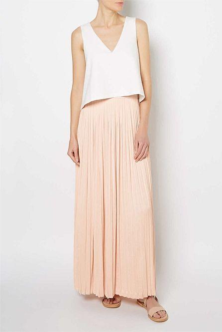 Tiered Bodice Maxi Dress   Dresses-Witchery