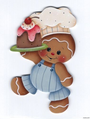 HP GINGERBREAD Boy Chef with Treat FRIDGE MAGNET