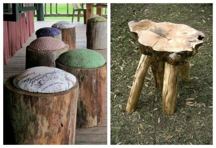 ideas de decoración y reciclaje natural - bancos