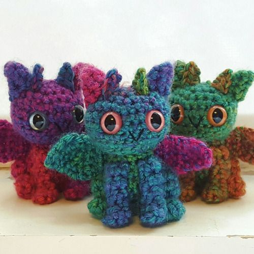 I made these from the same skein of yarn!