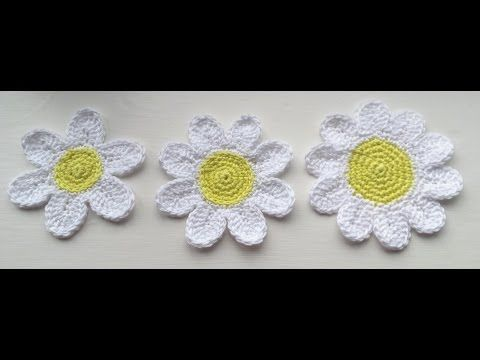 How to Crochet a Trio of Daisy / Flower Tutorial - YouTube