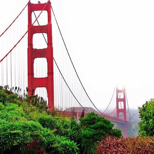 Crossing the Golden Gate Bridge to get to Grand Hyatt San Francisco. Photo by @mthiessen. Instagram by @travelandleisure.