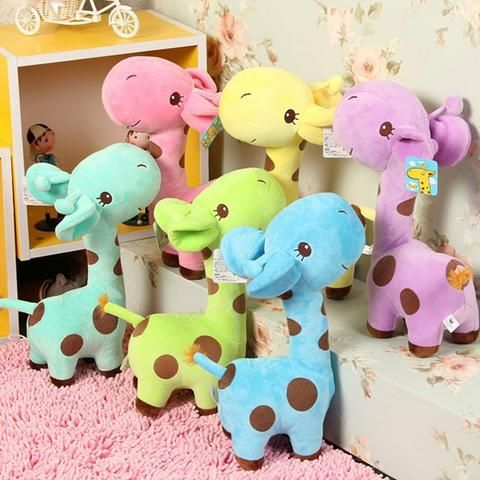 Cuddly plush giraffes. So cute