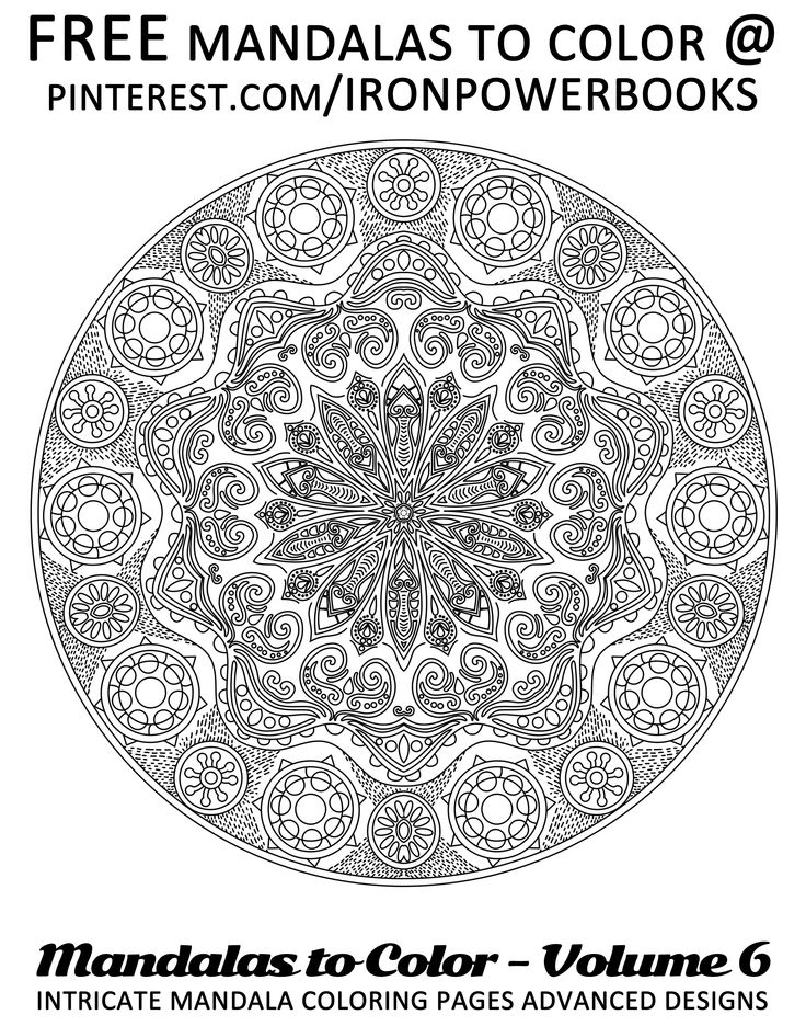 249 Best Images About Coloring Mandalas On Pinterest