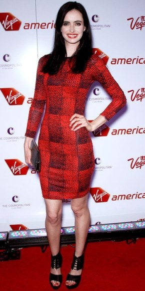 Krysten Ritter in her Delfinna heels out in Vegas!