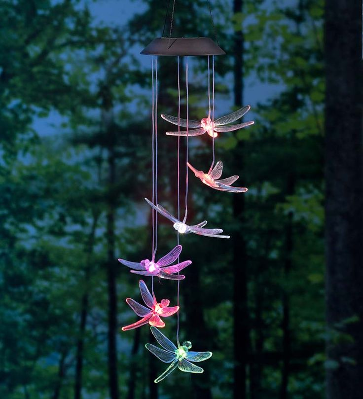 Fancy Color Changing LED Solar Dragonfly Mobile