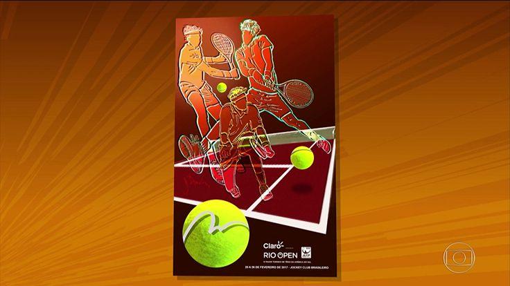 Daniel Azulay é convidado pela segunda vez para criar o cartaz do Rio Open
