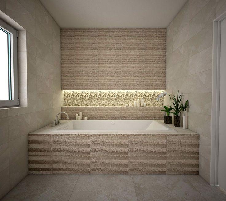 Norite SPA savo namuose? Mes galime padėti susikurti raminančią SPA atmosferą! #apdailosnamai #bathroom #interior #design #modern #calm #ivory #stones #pebble #mosaic #mikado #perla #jalari #mariner #intermatex #geotiles