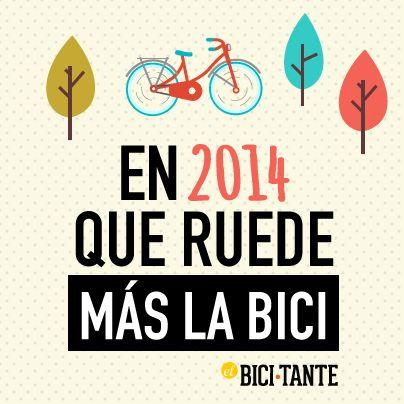 Feliz año nuevo para los amigos de la bici, que en 2014 seamos muchos más.