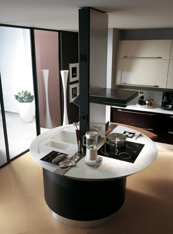 Flux by #GiugiaroDesign | #Kitchens with #island | #ModernKichens | #Scavolini