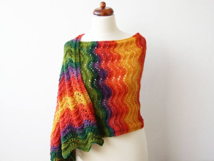 #Spring is coming! Big #shawls are perfect when you leave your jackets at home http://etsy.me/2Hphj7X #rainbow #stpatricksday #rainbowscarf #bigshawl #springfashion #etsy #sunnydays